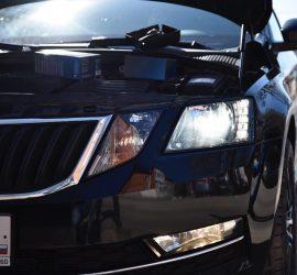 Led лампы в ближний Octavia A7 FL